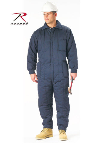 Navy Blue Winter Coveralls - Rothco Super Warm Heavy Insulated Coverall