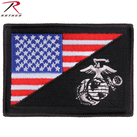 Rothco Red White Blue U.S. Flag/USMC Globe & Anchor Hook & Loop Morale Patch