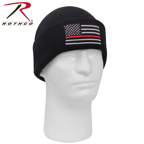 Rothco Deluxe Thin Red Line Watch Cap - Acrylic Winter Hat Beanie TRL FD Support
