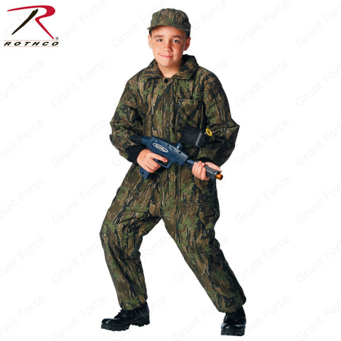 Kids Smokey Branch Camo Insulated Coveralls - Rothco Boys Winter Overalls