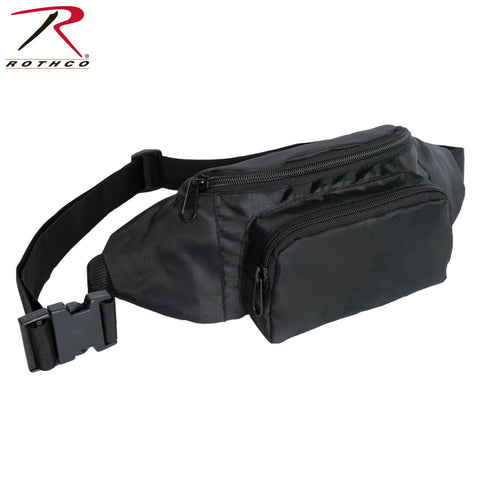 Rothco Crossbody Fanny Pack in Black - Lightweight Oxford Polyester Construction