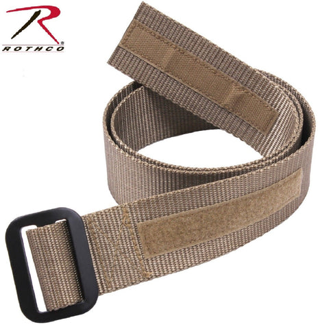 Coyote Brown Military Spec Riggers Belt with Hook & Loop and Aluminum Buckle