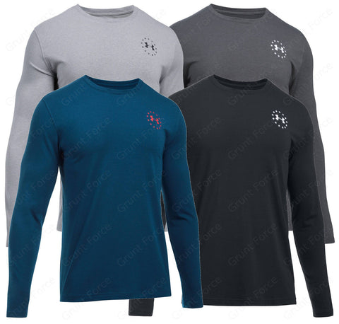 Under Armour Freedom Flag Shirt -UA Men's Long Sleeve Tactical Shirt