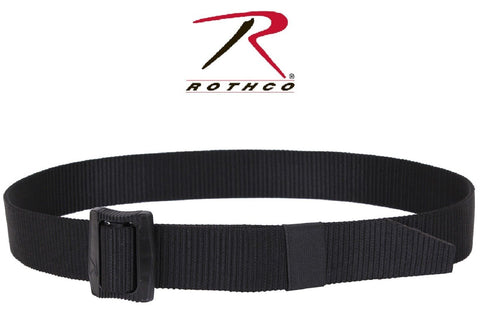Rothco Black Deluxe BDU Belt - Non Metal Military Battle Dress Uniform Belts