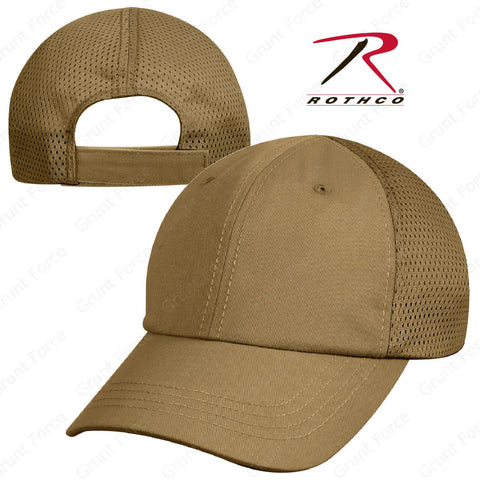 Rothco Mesh Back Tactical Cap - Coyote Brown Mesh Adjustable Baseball Hat