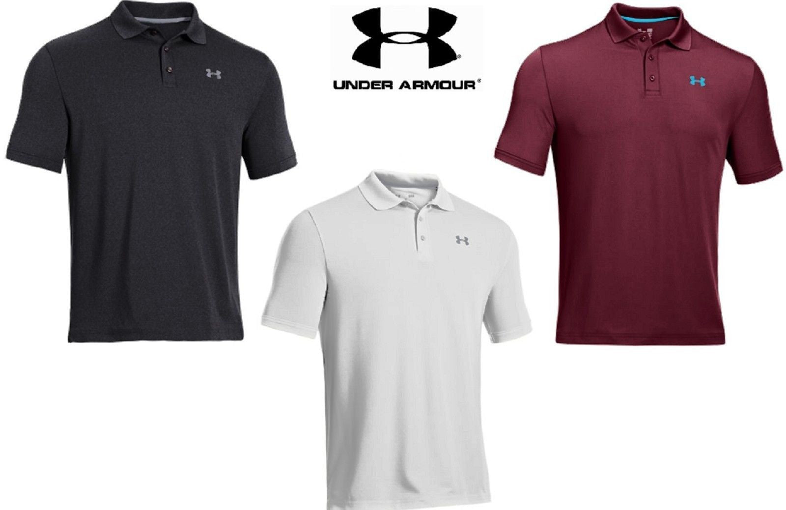 Under Armour Performance Polo Shirt Ua Full Loose Fit Collared