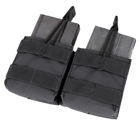 Condor MA24 Black Double 7.62 NATO .308 MOLLE Open Top Magazine Holster Pouch