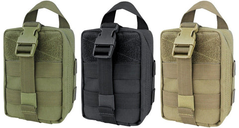 "Condor EMT Rip Away Lite Pouch - 7"" Compact Clam-Shell Medic MOLLE Kit Pouches"