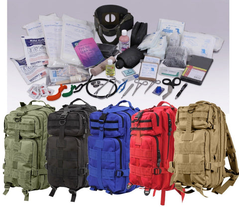 Rothco Military Style 200 Item First Aid Trauma Kit Transport Pack Backpack