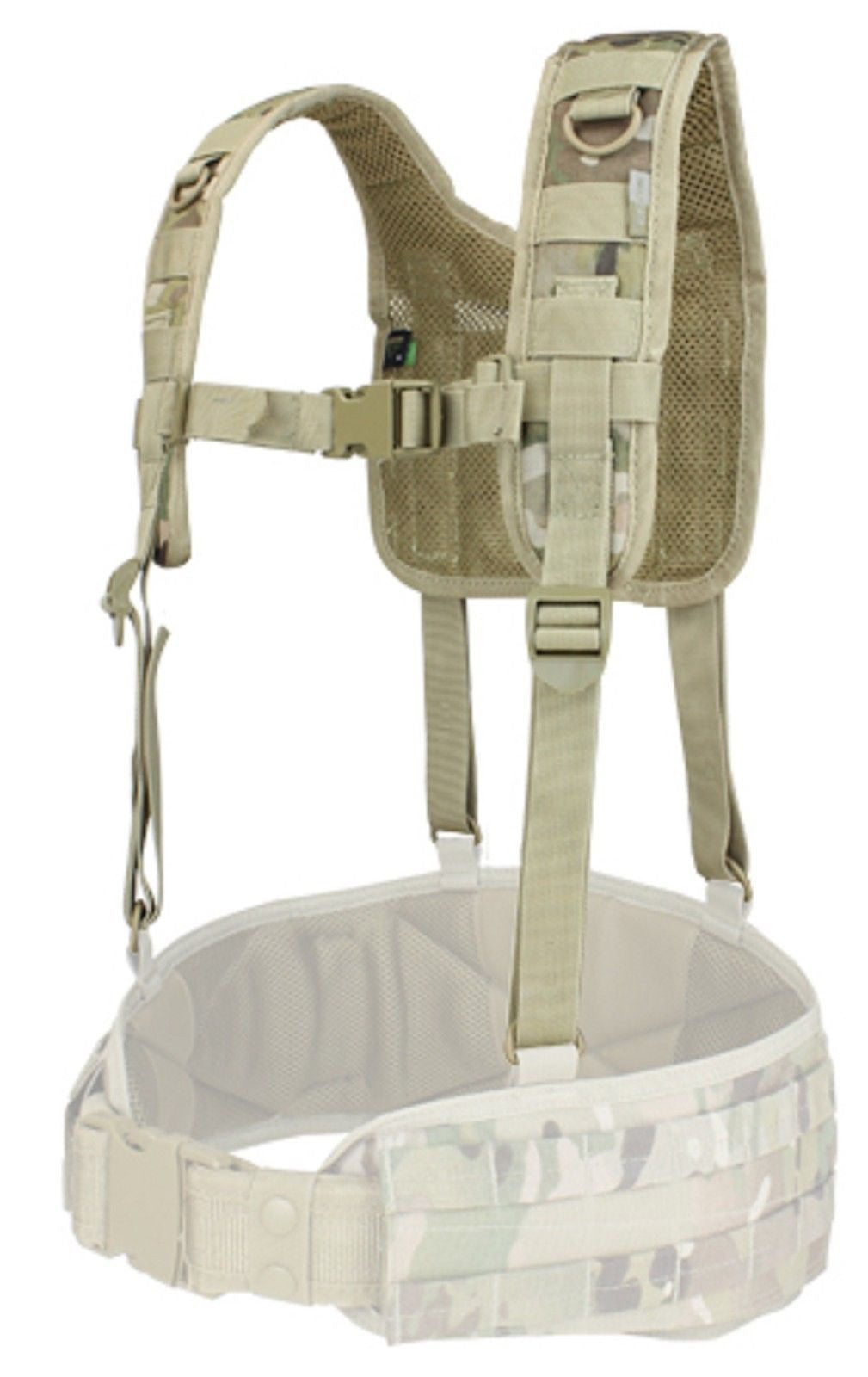 Support For Condor Battle Belts W// Lightly Padded Mesh H-Harness Multicam