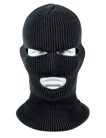 Black Wintuck Face Mask Cold Weather Winter Facemask Warm Head ... 2bc5867cea4