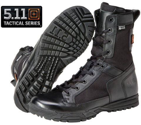5.11 Tactical Black Skyweight Waterproof Side Zip Field Duty Work Boots