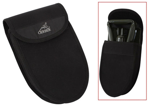 "Gerber Black Nylon Tri-Fold Shovel Cover With Belt Loop - 10"" Camp Shovel Covers"
