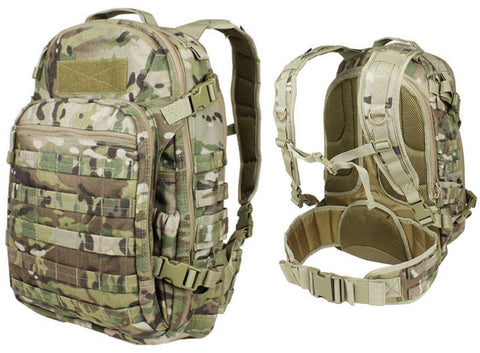 "Condor Outdoor Venture Pack - 20"" MultiCam MOLLE Laptop Backpack Bag w/ Belt 160"