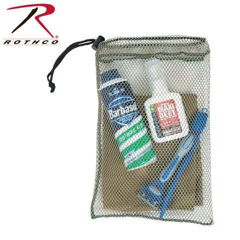 "Rothco Small Mesh Ditty Bag 8"" x 12"" - Military Type Mesh Barracks/Toiletry Bag"