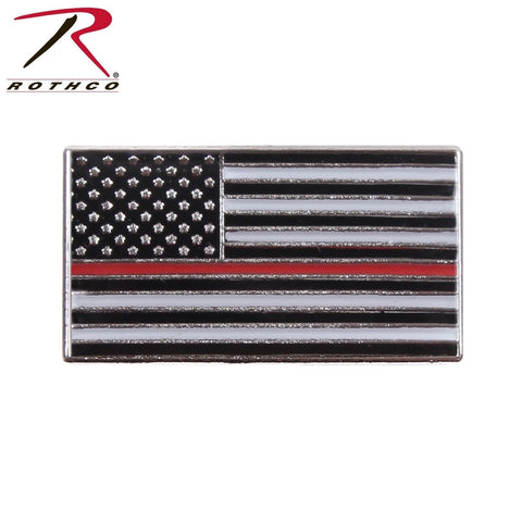 Rothco Thin Red Line Flag Pin - American Flag TRL Lapel Pin Fire Dept. Support