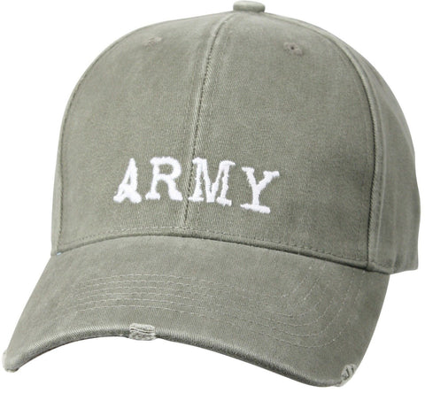 "Vintage Olive Drab - ""Army"" Low Profile Cap"