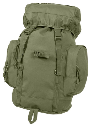 Olive Drab 25 Liter Tactical Backpack Gear Bag - Green Polyester Day Pack Rothco
