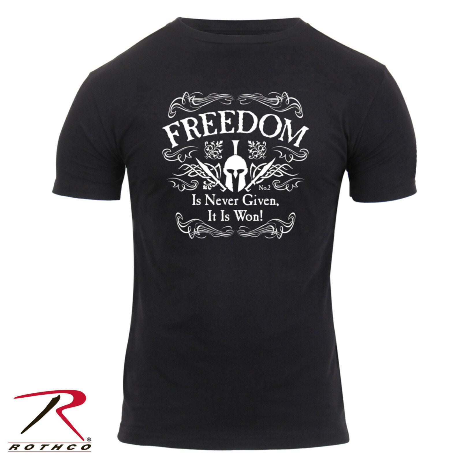 391feb7ae0bb8 Rothco Men's Athletic Fit 'Freedom' Tactical T-Shirt In Black ...