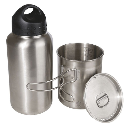 5ive Star Gear Water Bottle Kit Includes 1L Bottle Cup/Pot & Vented Lid/Strainer