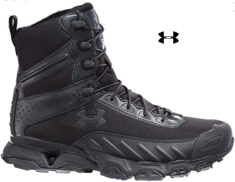 "Under Armour Men's Black Valsetz Wide Tactical Boot - UA 7"" Uniform Field Boots"