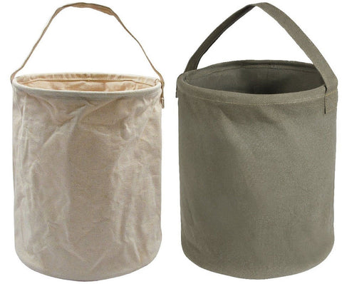 Rothco Heavyweight Canvas Collapsible Water Bucket - Outdoor Camping H2O Carrier