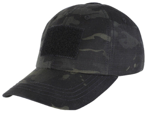 Men's Black MultiCam Camo Baseball-Style Tactical Cap Military Operator Hat