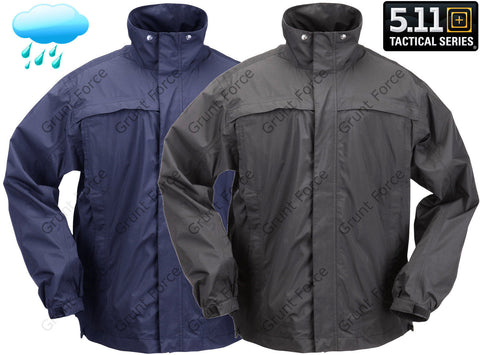 5.11 Tactical Dry Rain Shell Jacket - Black or Navy Waterproof Lightweight Coat