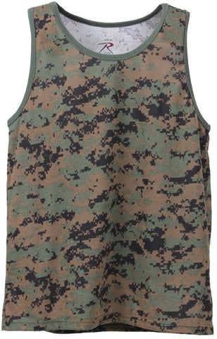 Rothco Men's Woodland Digital Camouflage Lightweight Sleeveless Tank Top
