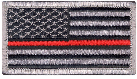 The Thin Red Line USA Flag Tactical Morale Patch - Rothco Hook Back Patches