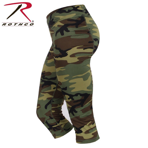 Women's Camo Workout Performance Capris