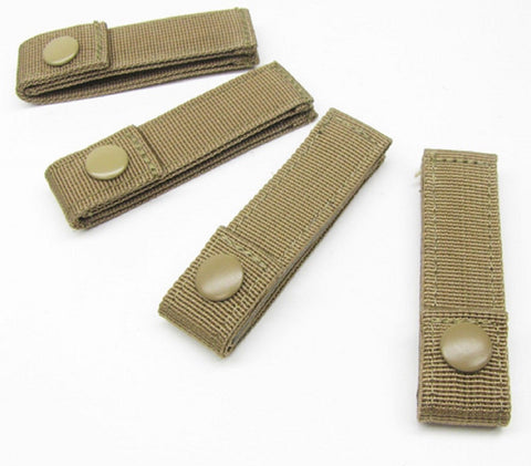 "Desert Tan 4"" Long MOD Strap 4 PACK MOLLE Modular Tactical Web Straps"