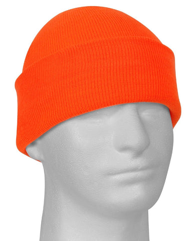 Safety Orange High Visibility Acrylic Winter Ski Watch Cap - Rothco 5783