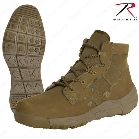Rothco AR 670-1 Coyote Brown 6 Inch V-Max Lightweight Tactical All Purpose Boot