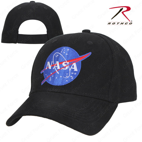 "Rothco NASA Mid-Low Profile Cap - ""NASA"" Black Adjustable Baseball Style Hat"