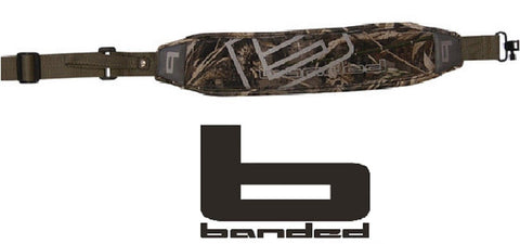 Banded MAX-5 Camouflage Neoprene Gun Sling - Padded Waterfowl Slings w/ Swivels
