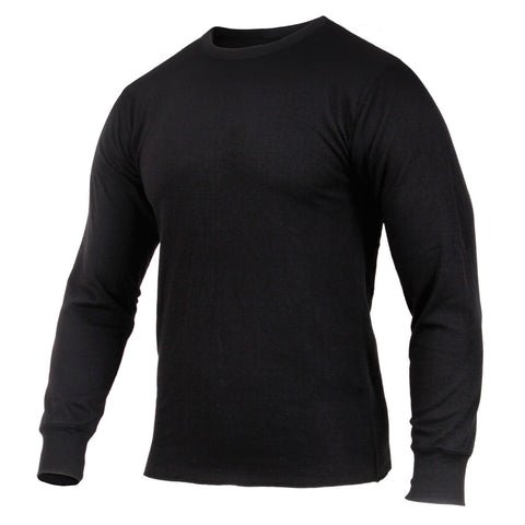 Men's Midweight Black Thermal Top - Rothco Thermal Knit Poly/Cotton Undershirt