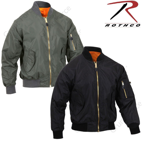 Mens Lightweight MA-1 Flight Jacket - Rothco Military Air Force Style Bomber Coat