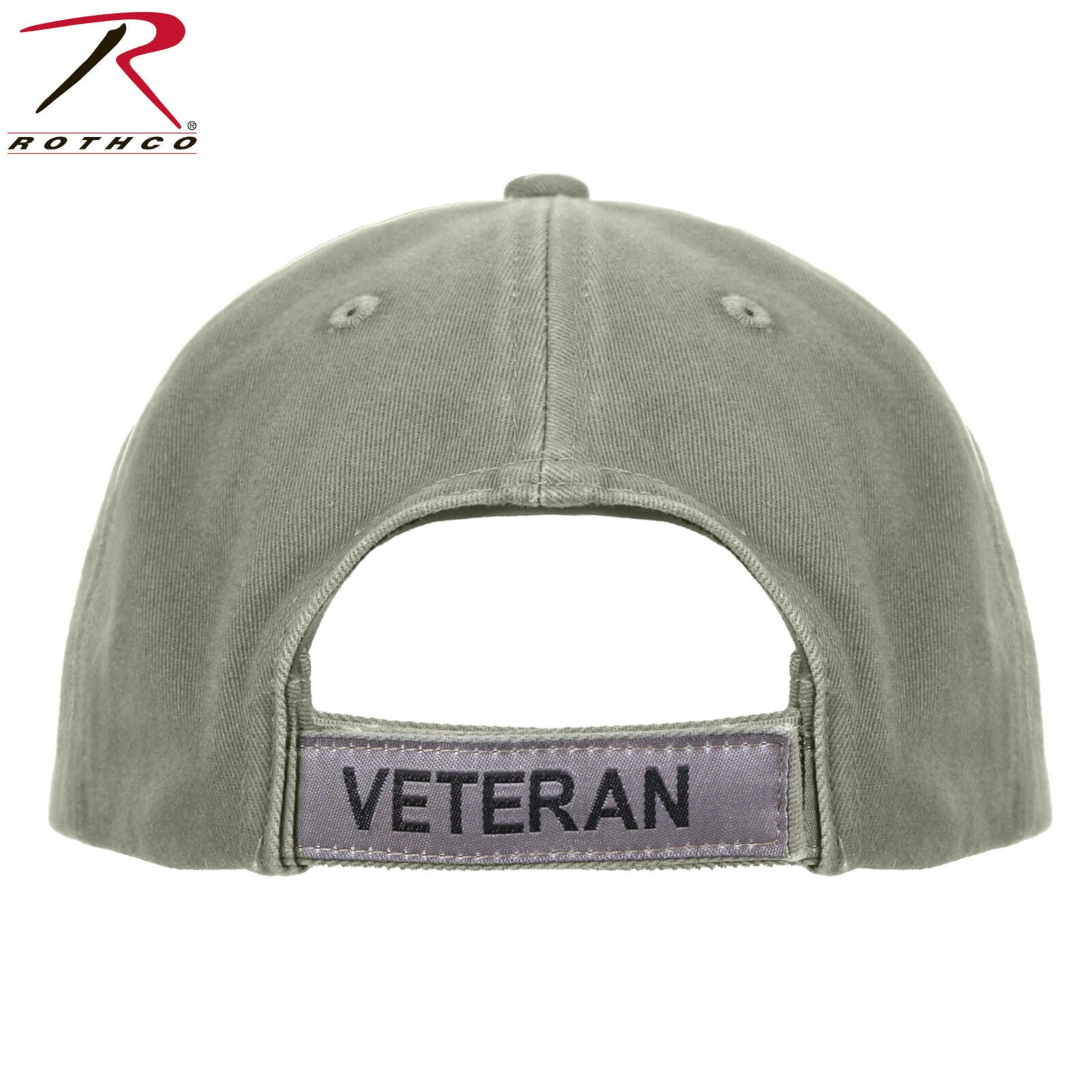c51c30e39e624 ... Rothco Vintage Olive Drab Veteran Mid-Low Profile Cap With Embroidered  U.S. Flag