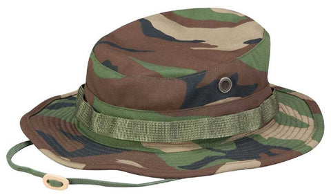 Propper® Woodland Camouflage Boonie Sun Hat Bucket Hat - Tactical Jungle Cap