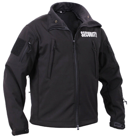 Mens Black Special Ops Soft Shell Security Tactical Jacket