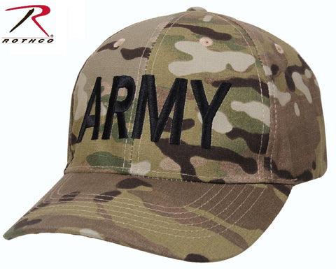 MultiCam Camouflage ARMY Low Profile Adjustable Baseball Hat Mens Camo Cap