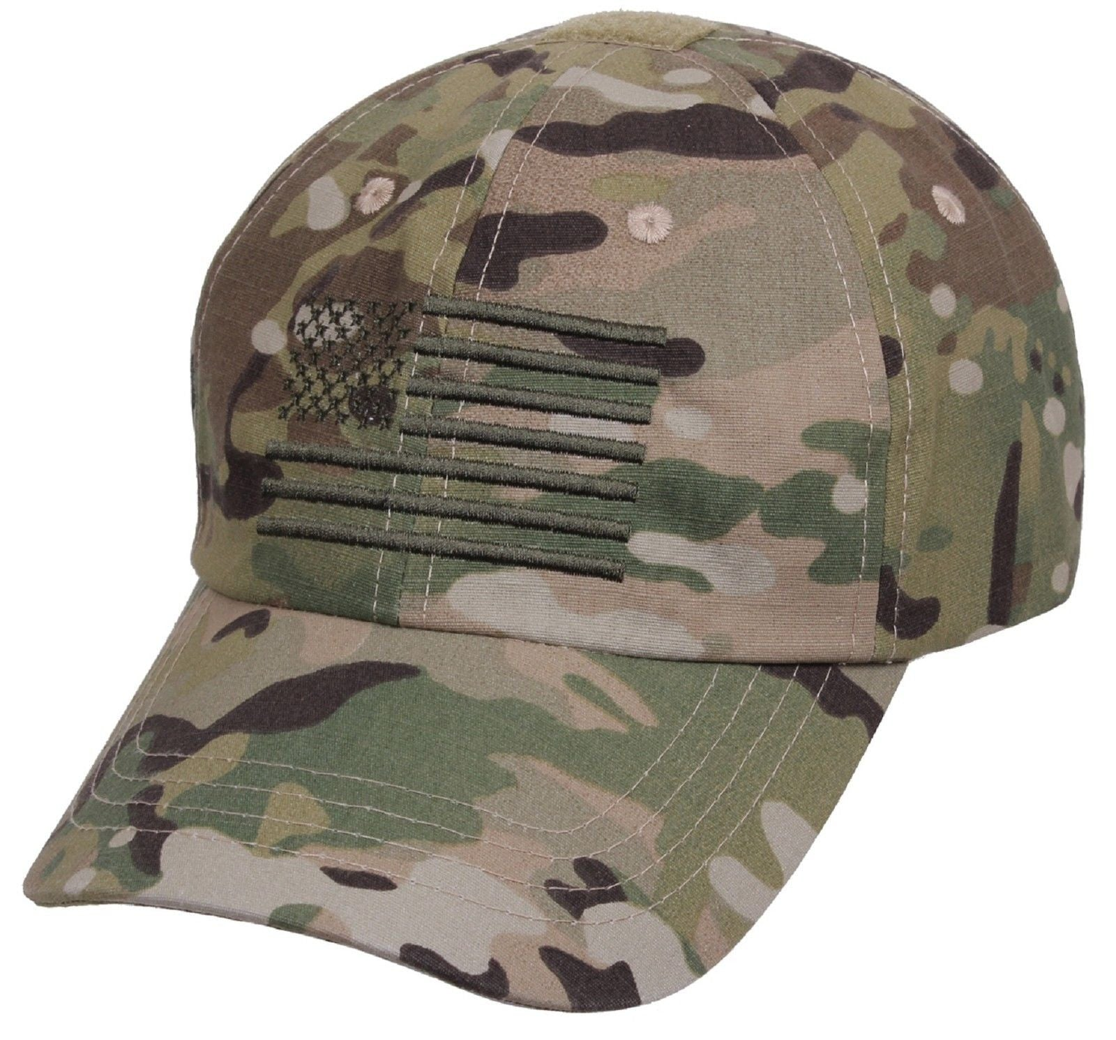 Men s MultiCam Embroidered USA Flag Tactical Cap - Adjustable Camo Baseball  Hat. Zoom. Move your mouse over image or click to enlarge b09d7284073