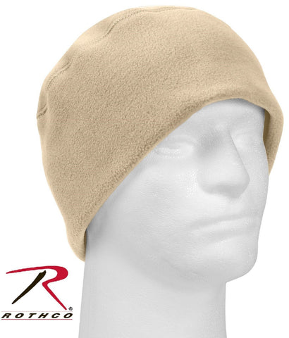 Desert Sand Polar Fleece Watch Cap - Rothco Tan Cold Winter Beanie Ski Hat 8460