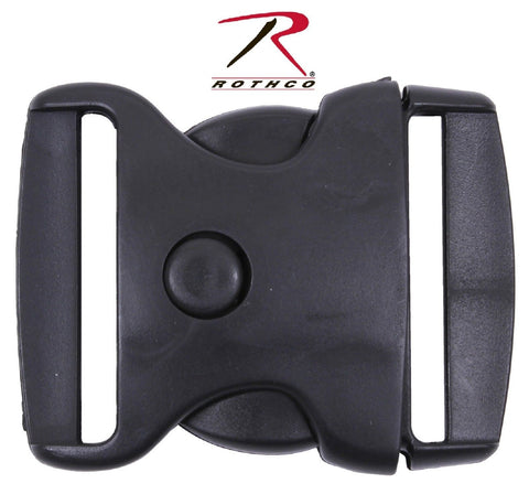 "Rothco Black 2"" Triple Retention Belt Buckle w/ Push Button Release 2501"