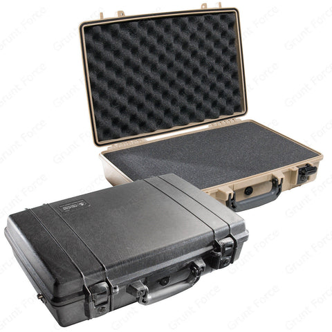 Pelican 1490 Protector Case - Attache Computer Laptop Case with Foam Insert