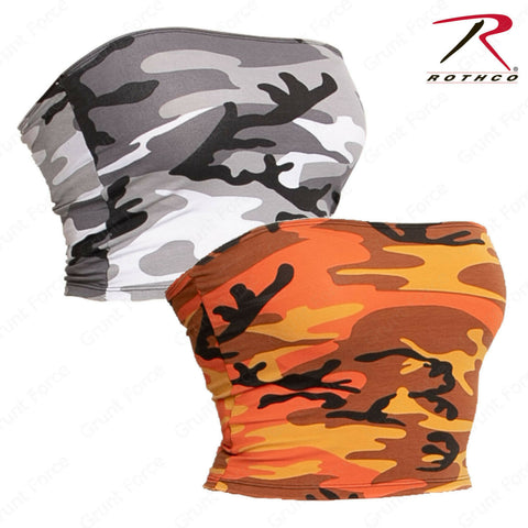 Rothco Women's Spandex Tube Top - Savage Orange Camo or City Camo