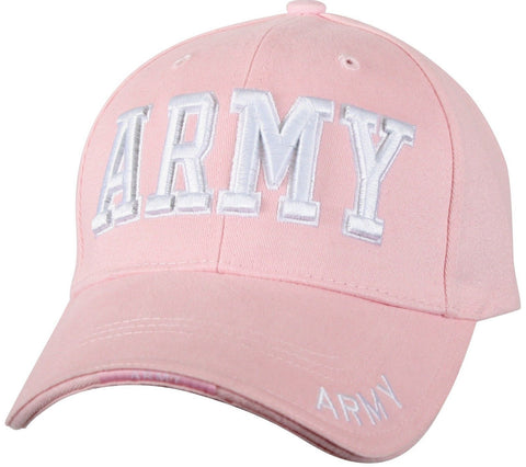 "Pink Army - Deluxe Baseball Cap With ""ARMY"" On Brim"