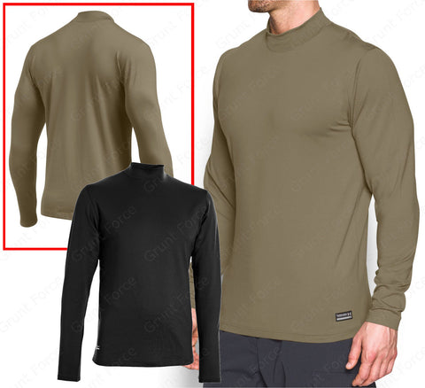 UA Men's ColdGear Infrared Tactical Fitted Mock Under Armour® Long Sleeve Shirt