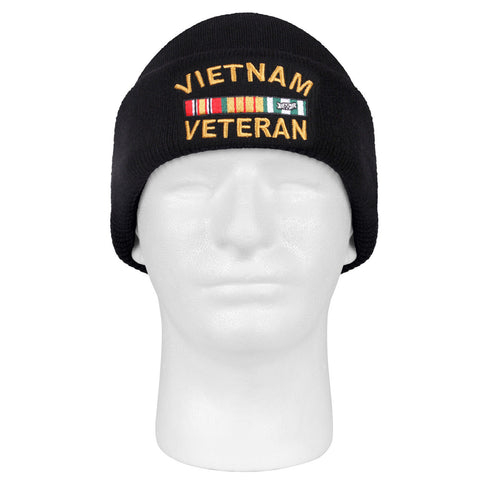 Vietnam Veteran Embroidered Watch Cap - Rothco's Deluxe Vietnam Vet Winter Hat